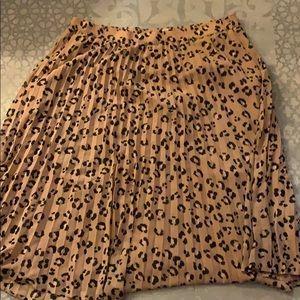 A New Day Leopard Printed Midi Skirt - XXL